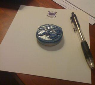 Ceramic calling card
