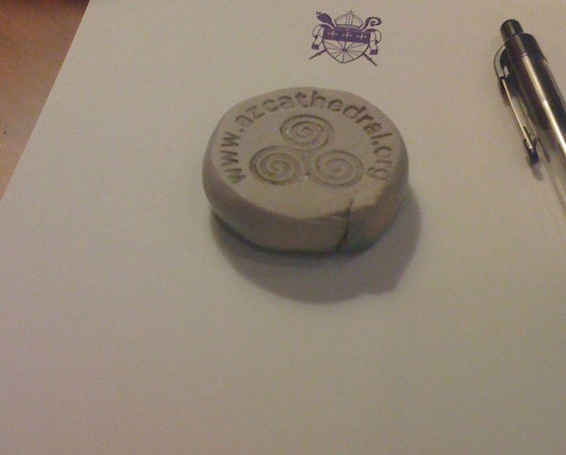 Ceramic calling card- reverse side